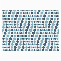 Circle Blue Grey Line Waves Large Glasses Cloth by Alisyart