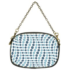 Circle Blue Grey Line Waves Chain Purses (one Side)