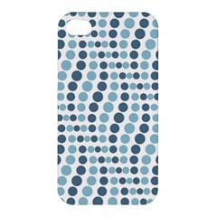 Circle Blue Grey Line Waves Apple Iphone 4/4s Hardshell Case