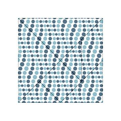 Circle Blue Grey Line Waves Acrylic Tangram Puzzle (4  X 4 )