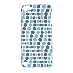 Circle Blue Grey Line Waves Apple Ipod Touch 5 Hardshell Case by Alisyart
