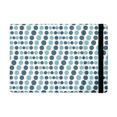 Circle Blue Grey Line Waves Apple Ipad Mini Flip Case by Alisyart