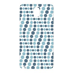 Circle Blue Grey Line Waves Samsung Galaxy Note 3 N9005 Hardshell Back Case
