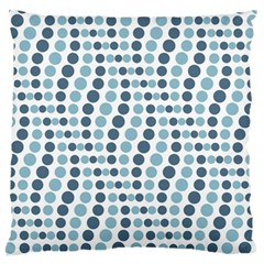 Circle Blue Grey Line Waves Standard Flano Cushion Case (one Side) by Alisyart