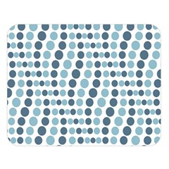 Circle Blue Grey Line Waves Double Sided Flano Blanket (large)