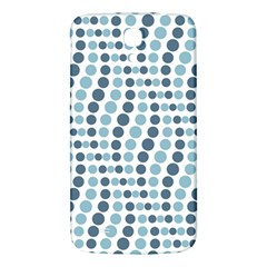 Circle Blue Grey Line Waves Samsung Galaxy Mega I9200 Hardshell Back Case