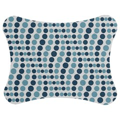 Circle Blue Grey Line Waves Jigsaw Puzzle Photo Stand (bow)