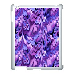 Purple Marble  Apple Ipad 3/4 Case (white) by KirstenStar