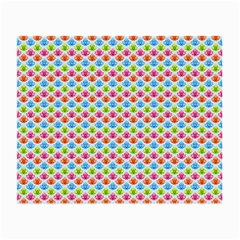 Colorful Floral Seamless Red Blue Green Pink Small Glasses Cloth (2 Side) by Alisyart