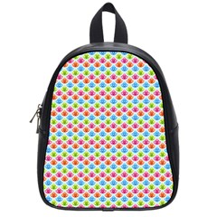 Colorful Floral Seamless Red Blue Green Pink School Bags (small)  by Alisyart