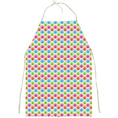 Colorful Floral Seamless Red Blue Green Pink Full Print Aprons