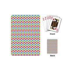 Colorful Floral Seamless Red Blue Green Pink Playing Cards (mini)  by Alisyart