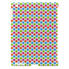 Colorful Floral Seamless Red Blue Green Pink Apple Ipad 3/4 Hardshell Case (compatible With Smart Cover)