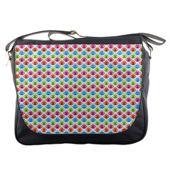 Colorful Floral Seamless Red Blue Green Pink Messenger Bags