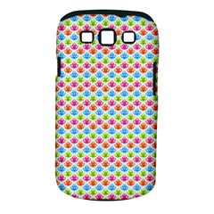 Colorful Floral Seamless Red Blue Green Pink Samsung Galaxy S Iii Classic Hardshell Case (pc+silicone)