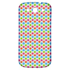 Colorful Floral Seamless Red Blue Green Pink Samsung Galaxy S3 S Iii Classic Hardshell Back Case