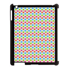 Colorful Floral Seamless Red Blue Green Pink Apple Ipad 3/4 Case (black) by Alisyart