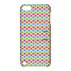 Colorful Floral Seamless Red Blue Green Pink Apple Ipod Touch 5 Hardshell Case With Stand