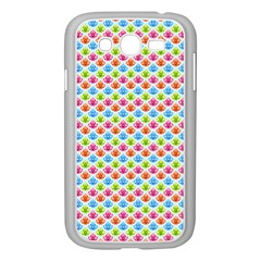 Colorful Floral Seamless Red Blue Green Pink Samsung Galaxy Grand Duos I9082 Case (white)