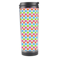 Colorful Floral Seamless Red Blue Green Pink Travel Tumbler by Alisyart