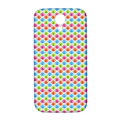 Colorful Floral Seamless Red Blue Green Pink Samsung Galaxy S4 I9500/i9505  Hardshell Back Case