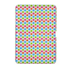 Colorful Floral Seamless Red Blue Green Pink Samsung Galaxy Tab 2 (10 1 ) P5100 Hardshell Case