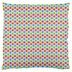 Colorful Floral Seamless Red Blue Green Pink Standard Flano Cushion Case (one Side)