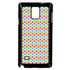 Colorful Floral Seamless Red Blue Green Pink Samsung Galaxy Note 4 Case (black)