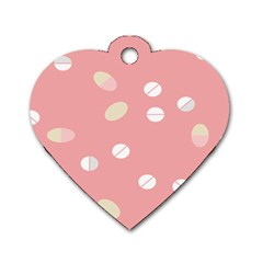 Drug Pink Dog Tag Heart (one Side) by Alisyart