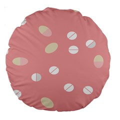 Drug Pink Large 18  Premium Round Cushions by Alisyart
