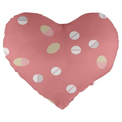Drug Pink Large 19  Premium Flano Heart Shape Cushions by Alisyart