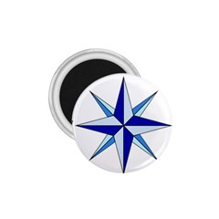 Compass Blue Star 1 75  Magnets by Alisyart