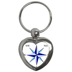 Compass Blue Star Key Chains (heart)  by Alisyart