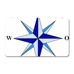 Compass Blue Star Magnet (rectangular) by Alisyart