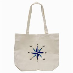 Compass Blue Star Tote Bag (cream) by Alisyart