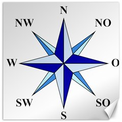 Compass Blue Star Canvas 16  X 16