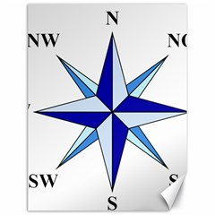 Compass Blue Star Canvas 18  X 24   by Alisyart