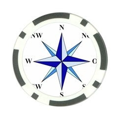 Compass Blue Star Poker Chip Card Guard by Alisyart