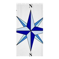 Compass Blue Star Shower Curtain 36  X 72  (stall)  by Alisyart
