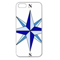 Compass Blue Star Apple Seamless Iphone 5 Case (clear) by Alisyart