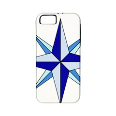 Compass Blue Star Apple Iphone 5 Classic Hardshell Case (pc+silicone) by Alisyart