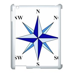 Compass Blue Star Apple Ipad 3/4 Case (white)