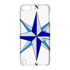 Compass Blue Star Apple Ipod Touch 5 Hardshell Case With Stand by Alisyart