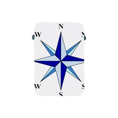 Compass Blue Star Apple Ipad Mini Protective Soft Cases by Alisyart