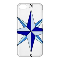 Compass Blue Star Apple Iphone 5c Hardshell Case