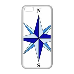Compass Blue Star Apple Iphone 5c Seamless Case (white) by Alisyart