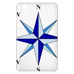 Compass Blue Star Samsung Galaxy Tab Pro 8 4 Hardshell Case by Alisyart