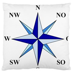 Compass Blue Star Standard Flano Cushion Case (one Side) by Alisyart