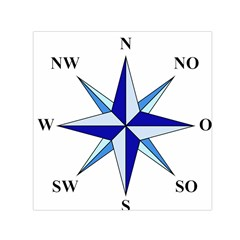 Compass Blue Star Small Satin Scarf (square) by Alisyart
