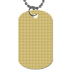 Golden Yellow Tablecloth Plaid Line Dog Tag (one Side)